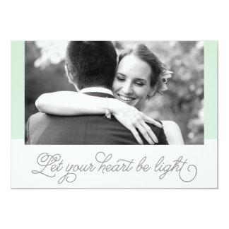 Let Your Heart Be Light Holiday Card | Newlyweds