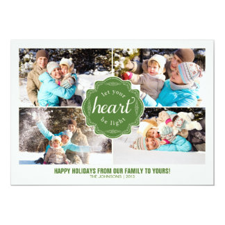 Let Your Heart Be Light Holiday Photo Card