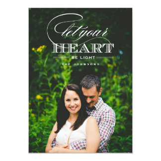 Let Your Heart Be Light Holiday Photo Card Personalized Announcement