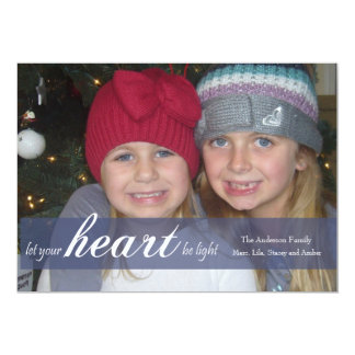 Let Your Heart Be Light Ribbon Photo Card
