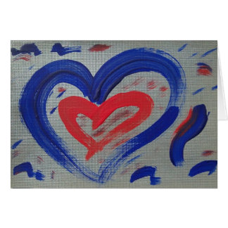 Let your heart shine note card - silver blue