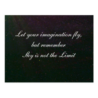 Let your imagination fly postcard