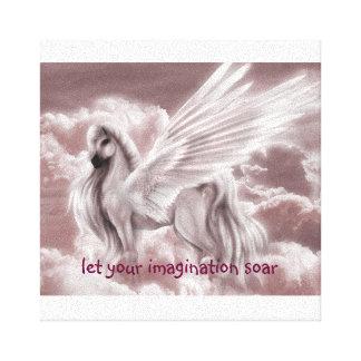 let your imagination soar canvas print