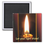 Let your light shine! 2 inch square magnet