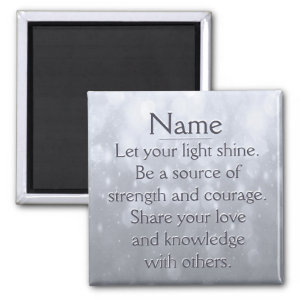 Let Your Light Shine 2 Inch Square Magnet