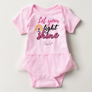 Let Your Light Shine Baby Tutu Bodysuit