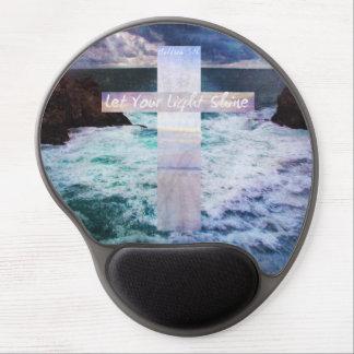 Let your light shine BIBLE VERSE art ocean image Gel Mousepads