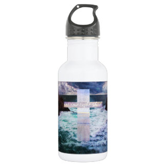 Let your light shine BIBLE VERSE art Water Bottle