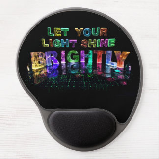 Let Your Light Shine Brightly Gel Mouse Pad