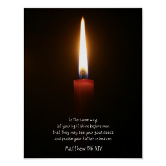 """Let Your Light Shine"" Candle Poster"