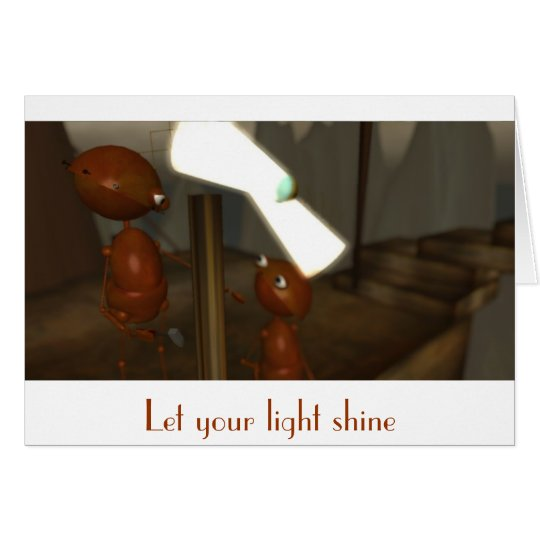 """Let Your Light Shine"" Card"