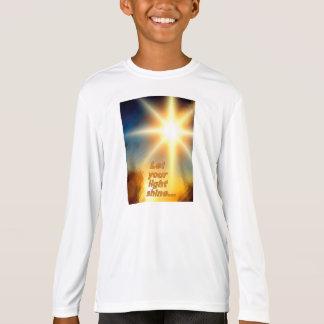 Let Your Light Shine Christian Cross Kids Design T-Shirt