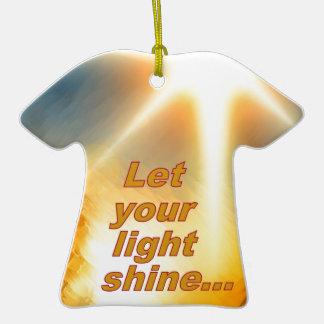 Let Your Light Shine Dazzling Sunlight Design Ornaments