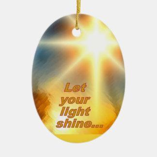 Let Your Light Shine Dazzling Sunlight Design Christmas Ornament