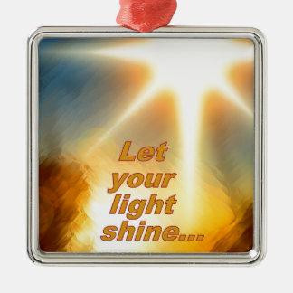 Let Your Light Shine Dazzling Sunlight Design Christmas Tree Ornament