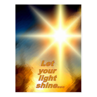 Let Your Light Shine Dazzling Sunlight Design Postcard