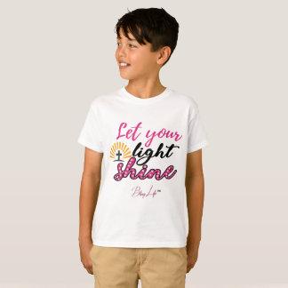 Let Your Light Shine Kids' Hanes TAGLESS® T-Shirt