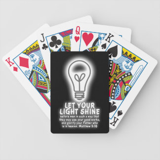 Let Your Light Shine Matthew 5:16 Bible Verse Bicycle Playing Cards