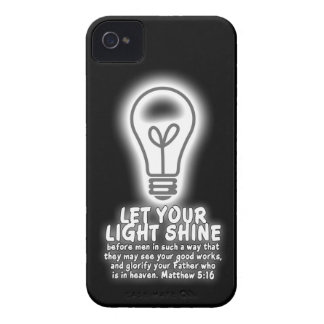 Let Your Light Shine Matthew 5:16 Bible Verse iPhone 4 Cover