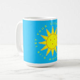 Let Your Light Shine Matthew 5:16 Smiling Sun Face Coffee Mug