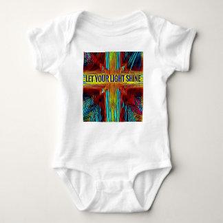 """""""Let Your Light Shine"""" Modern Diversity Cross Baby Bodysuit"""
