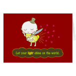 Let your light shine on the world Card