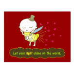 Let your light shine on the world Postcard