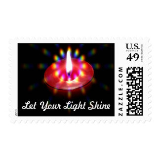 Let Your Light Shine postage stamp