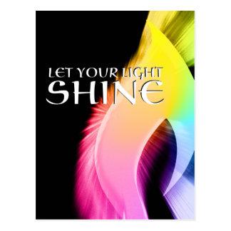 let your light shine : rainbow burst postcard