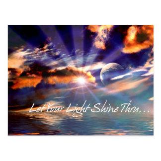 let your light shine thru postcard