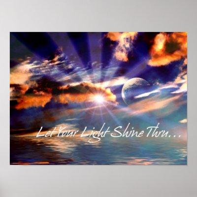 Let Your Light Shine Thru Print
