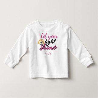 Let Your Light Shine Toddler Long Sleeve T-Shirt