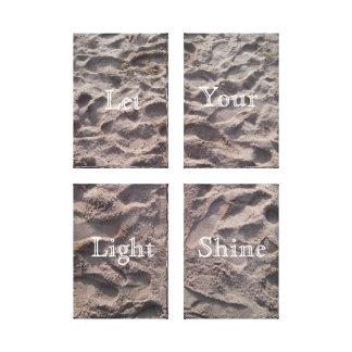 Let Your Light Shine, wrapped canvas, sandy beach Canvas Print