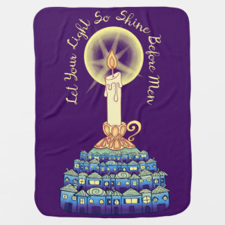Let Your Light So Shine Before Men Swaddle Blanket