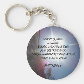 LET YOUR LIGHTSO SHINEBEFORE MEN, ... - Customized Key Chain