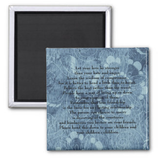 Let your love be stronger 2 inch square magnet