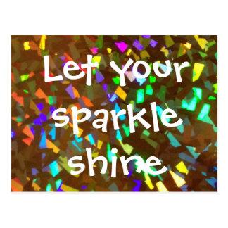 Let Your Sparkle Shine Postcard