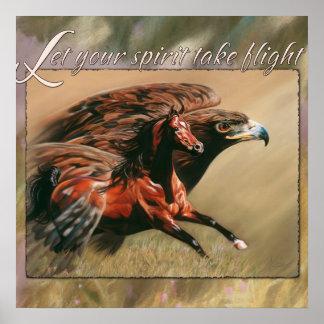 Let your Spirit take Flight Poster