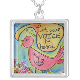 Let Your Voice Be Heard Silver Plated Necklace