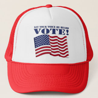 LET YOUR VOICE BE HEARD VOTE! TRUCKER HAT