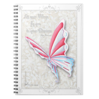 Let Your Wings Fly to Your Dreams Notebook