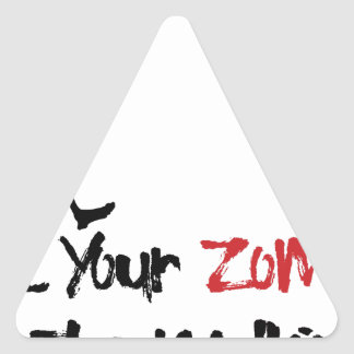 Let Your Zombie Do The Walking Triangle Sticker