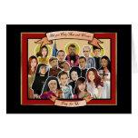 Letanía de la tarjeta de felicitación de los santo