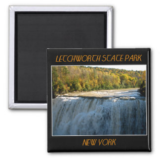 Letchworth State Park - Middle Falls 2 Inch Square Magnet