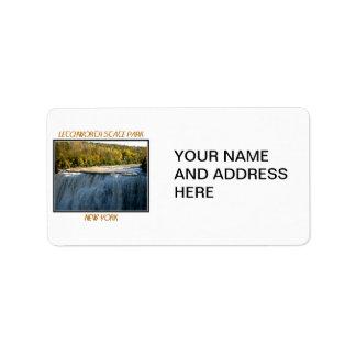 Letchworth State Park - Middle Falls Address Label
