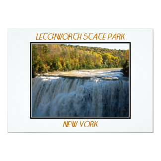"Letchworth State Park - Middle Falls 5"" X 7"" Invitation Card"