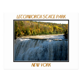 Letchworth State Park - Middle Falls Postcard