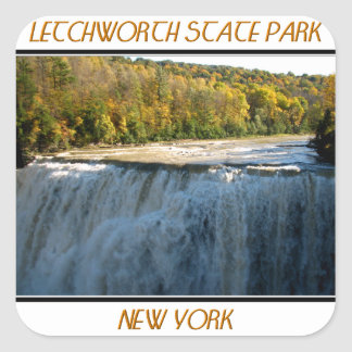 Letchworth State Park - Middle Falls Square Sticker