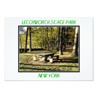 "Letchworth State Park - Tea Table Rock 5"" X 7"" Invitation Card"
