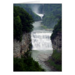 Letchworth State Park Upper and Middle Waterfalls Greeting Card